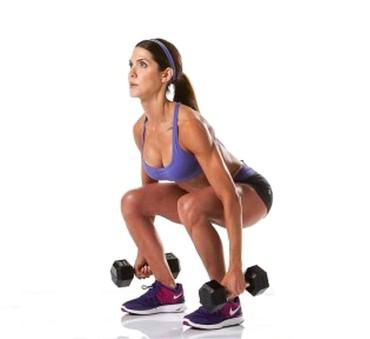squats med fria vikter