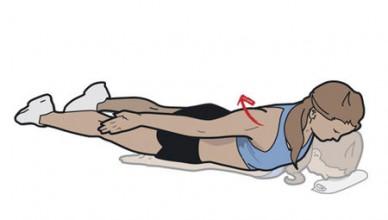 Prone Cobra - övning för bättre hållning